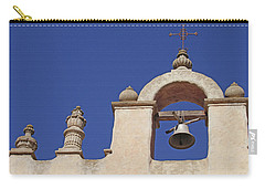Carry-all Pouch featuring the photograph Montecito Mt. Carmel Church Tower by Art Block Collections