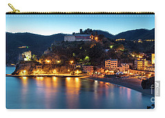 Carry-all Pouch featuring the photograph Monterosso Al Mare At Twilight by Brian Jannsen