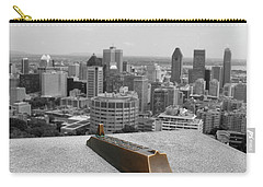 Montreal Cityscape Bw With Color Carry-all Pouch