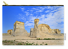 Monument Rocks In Kansas 2 Carry-all Pouch