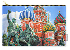Carry-all Pouch featuring the photograph Monument To Minin And Pozharsky by Delphimages Photo Creations