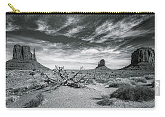 Carry-all Pouch featuring the photograph Monument Valley by Lou Novick