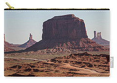 Monument Valley Man On Horse Sunrise  Carry-all Pouch