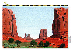 Monument Valley North Window Carry-all Pouch by Mike Robles