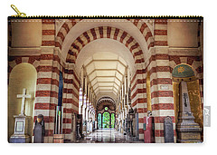 Carry-all Pouch featuring the photograph Monumental Cemetery In Milan Italy  by Carol Japp