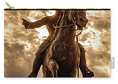 Carry-all Pouch featuring the photograph Monumento A Calixto Garcia Havana Cuba Malecon Habana by Charles Harden