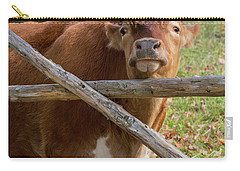 Carry-all Pouch featuring the photograph Moo by Bill Wakeley