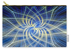 Carry-all Pouch featuring the digital art Moody Blue by Carolyn Marshall