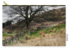 Carry-all Pouch featuring the photograph Moody Scenery In Central Scotland by Jeremy Lavender Photography