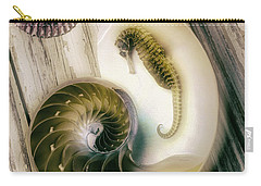 Moody Seahorse Carry-all Pouch by Garry Gay