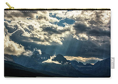 Moody Sunrays Over Glacier National Park Carry-all Pouch
