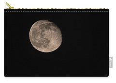 Carry-all Pouch featuring the photograph Moon 4-13-2017 by Thomas Young
