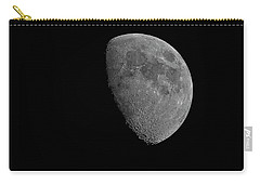 Carry-all Pouch featuring the photograph Moon 67 Percent Fr23 by Mark Myhaver