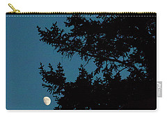 Moon And Pine Tree-signed-#0077 Carry-all Pouch