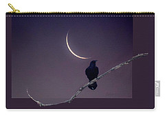 Raven Under Crescent Moon Carry-all Pouch