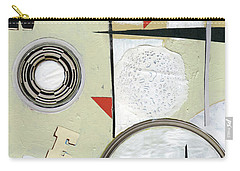 Carry-all Pouch featuring the painting Moon And Stars In Space by Michal Mitak Mahgerefteh