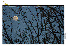 Moon At Dusk Through Trees - Impressionism Carry-all Pouch