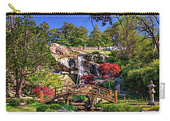 Carry-all Pouch featuring the photograph Moon Bridge And Maymont Falls by Rick Berk