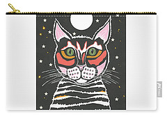 Moon Cat Carry-all Pouch by Kathleen Sartoris