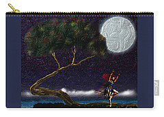 Carry-all Pouch featuring the digital art Moon Dancer by Iowan Stone-Flowers