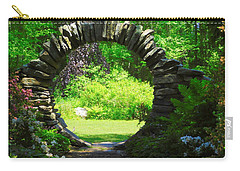 Moon Gate At Kinney Azalea Gardens Carry-all Pouch