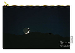 Moon Greets Tram Carry-all Pouch by Angela J Wright
