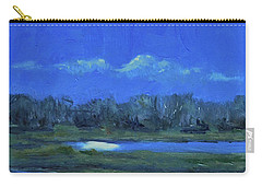 Carry-all Pouch featuring the painting Moon Light And Mud Puddles by Billie Colson