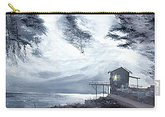 Carry-all Pouch featuring the painting Moon Light New by Anil Nene