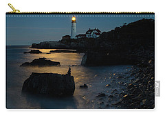 Carry-all Pouch featuring the photograph Moon Light Over The Lighthouse  by Emmanuel Panagiotakis
