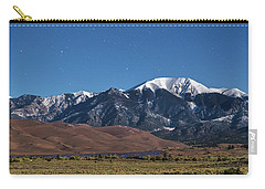 Moon Lit Colorado Great Sand Dunes Starry Night  Carry-all Pouch by James BO Insogna