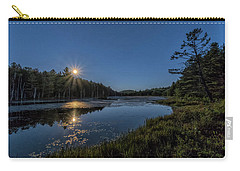 Carry-all Pouch featuring the photograph Moon On North Pond Road by Tom Singleton