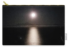 Moon On Ocean Carry-all Pouch