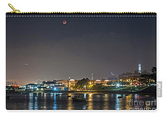 Carry-all Pouch featuring the photograph Moon Over Aquatic Park by Kate Brown