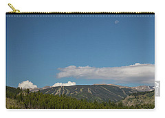 Carry-all Pouch featuring the photograph Moon Over Eldora Summer Season Ski Slopes by James BO Insogna