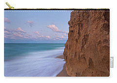 Moon Over Hutchinson Island Beach Carry-all Pouch by Justin Kelefas
