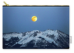 Moon Over Mt Gunnison Colorado Carry-all Pouch