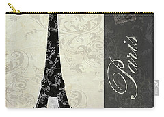 Moon Over Paris Postcard Carry-all Pouch by Mindy Sommers