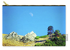 Carry-all Pouch featuring the photograph Moon Over Ray's Perch by Timothy Bulone