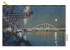 Moon Over The Railway Bridge Maastricht Carry-all Pouch