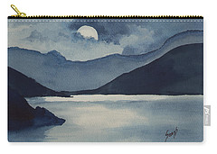 Carry-all Pouch featuring the painting Moon Over The Water by Sam Sidders