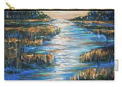 Moon Over Waterway Carry-all Pouch