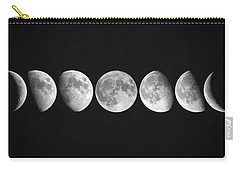 Carry-all Pouch featuring the digital art Moon Phases by Taylan Apukovska