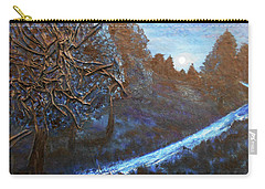 Carry-all Pouch featuring the mixed media Moon Rise  by Angela Stout