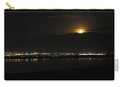 Carry-all Pouch featuring the photograph Moon Rise At Washatch by Norman Hall