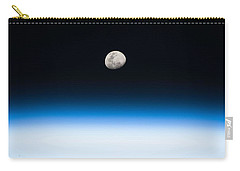 Moon Rise From The Space Station By Nasa Carry-all Pouch
