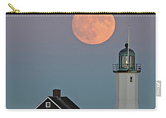 Moon Rise Over Scituate Carry-all Pouch by Stephen Flint