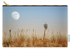 Moon Rise Snowy Owl Carry-all Pouch