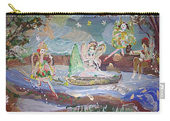 Moon River Fairies Carry-all Pouch by Judith Desrosiers