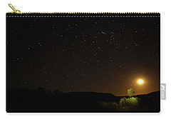 Moon Set Over Palm Valley Carry-all Pouch by Paul Svensen