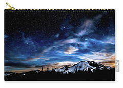 Moon Setting Behind Mt Rainier  Carry-all Pouch